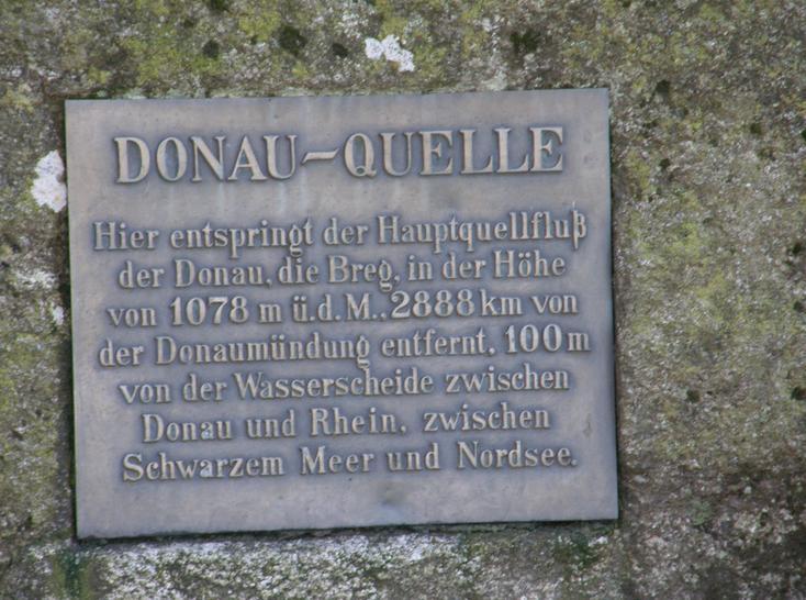 Inscxxxriptia de la izvorul Dunarii